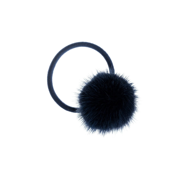 MINK HAIR POM NAVY BLUE