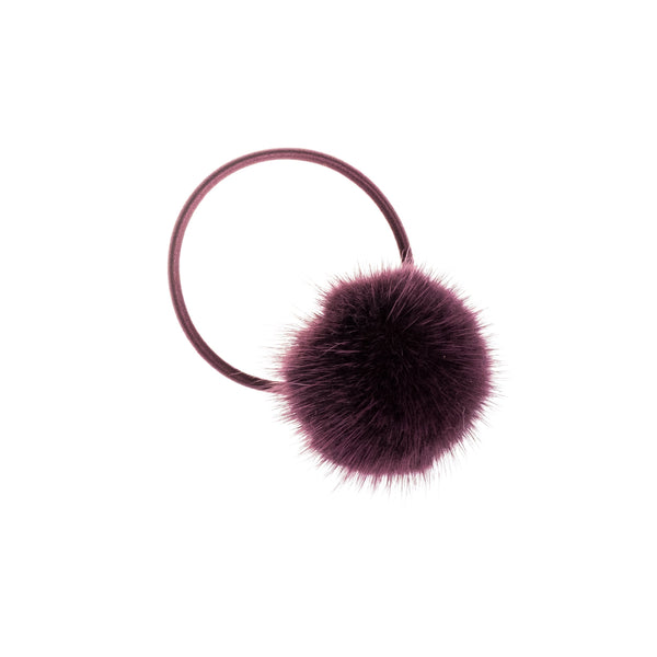 MINK HAIR POM RICH PLUM