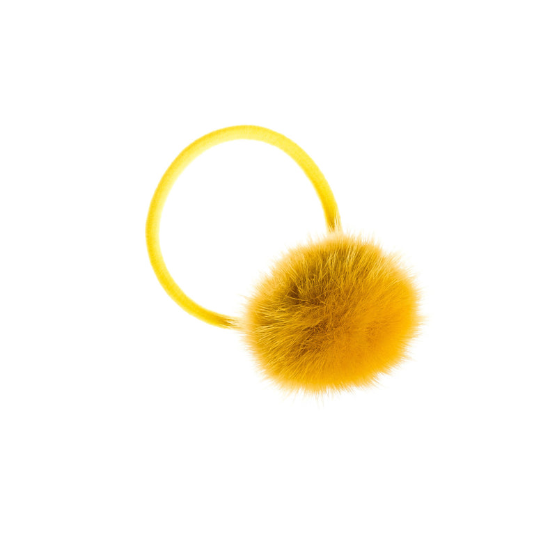 MINK HAIR POM YELLOW