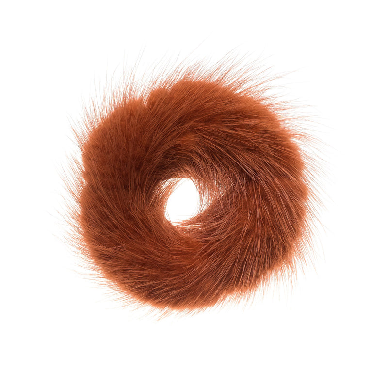 MINK HAIR TIE COPPER