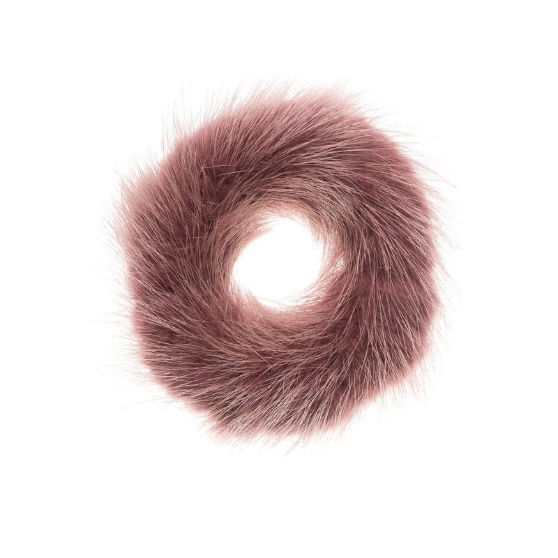 MINK HAIR TIE DUSTY GRAPE