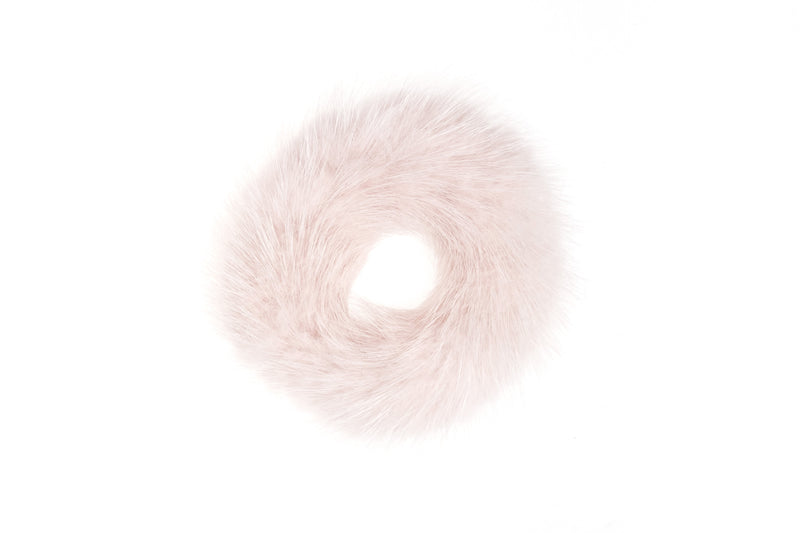 MINK HAIR TIE PALE ROSE