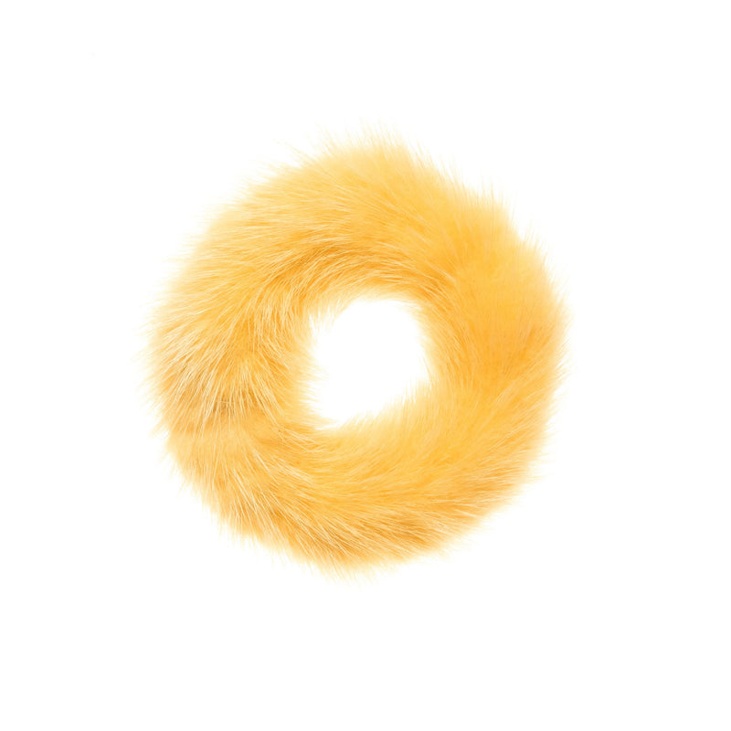 MINK HAIR TIE YELLOW
