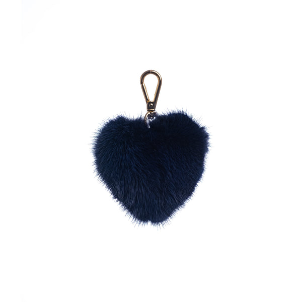 MINK HEART NAVY BLUE