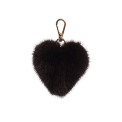 MINK HEART CHOCOLATE BROWN