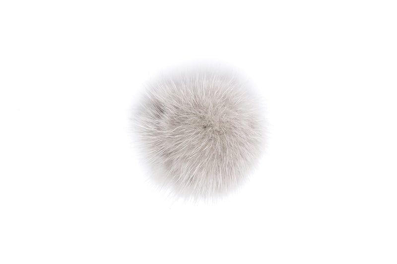 SHOE POM POM LIGHT GREY SMALL
