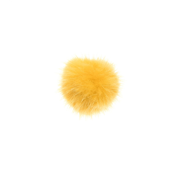 SHOE POM POM YELLOW SMALL