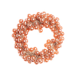 PEARL SCRUNCHIE ANTIQUE ROSE