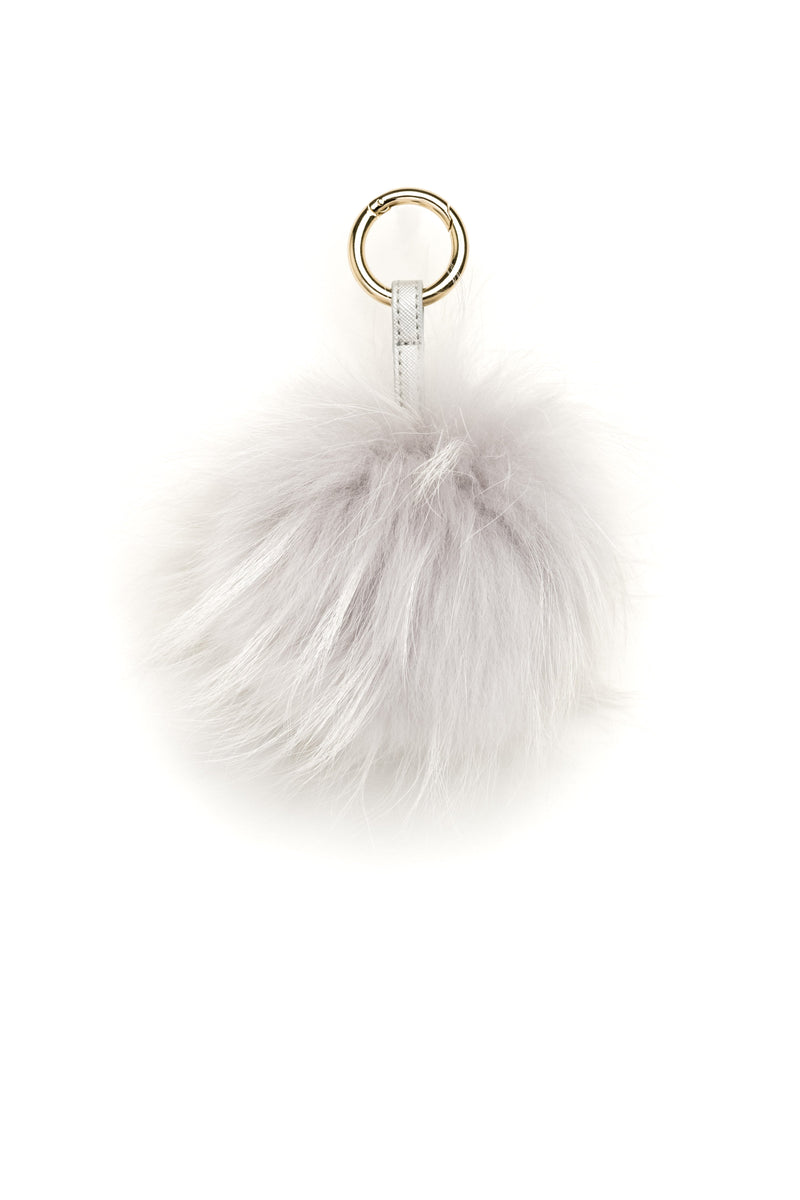POM POM RACCOON LIGHT GREY