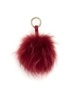 POM POM RACCOON RED