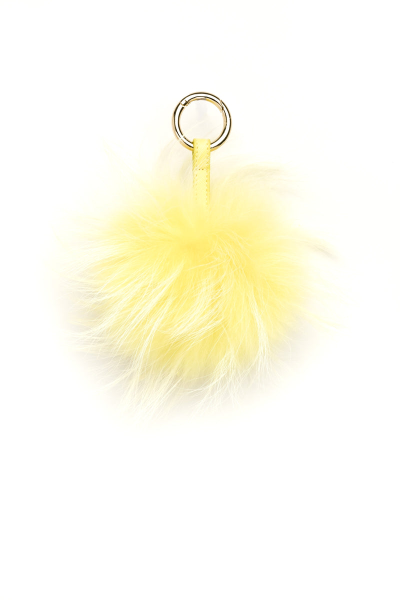 POM POM RACCOON SUMMER YELLOW