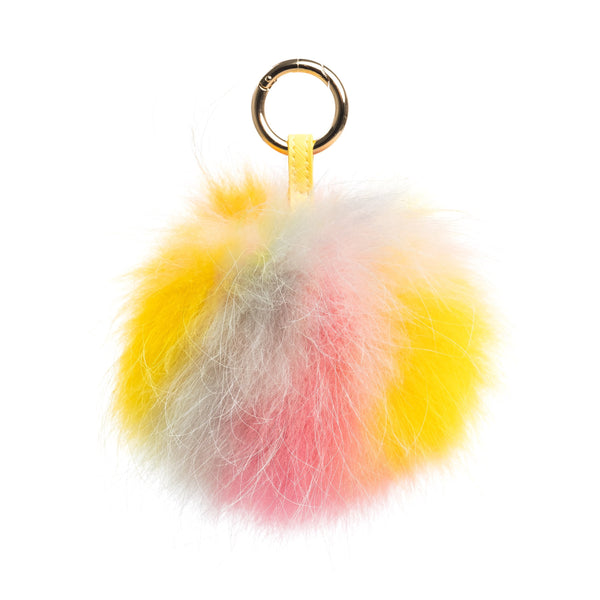 POM POM RACCOON COLORFUL YELLOW