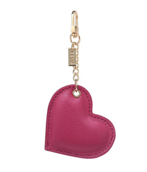 LEATHER HEART CHARM WILDBERRY