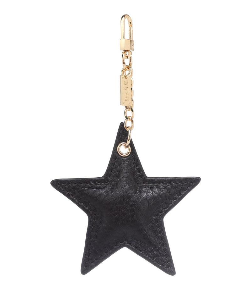 LEATHER STAR CHARM CHOCOLATE BROWN