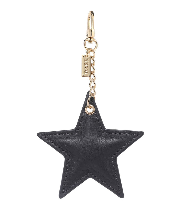 LEATHER STAR CHARM DARK GREY