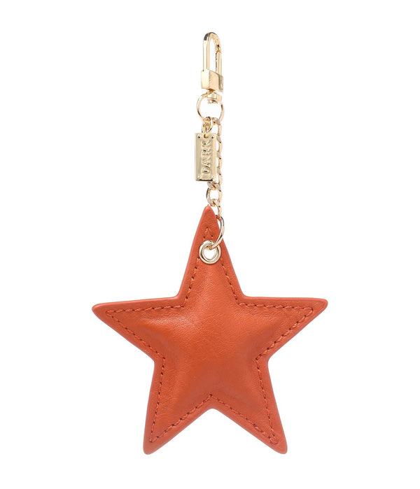 LEATHER STAR CHARM ORANGE