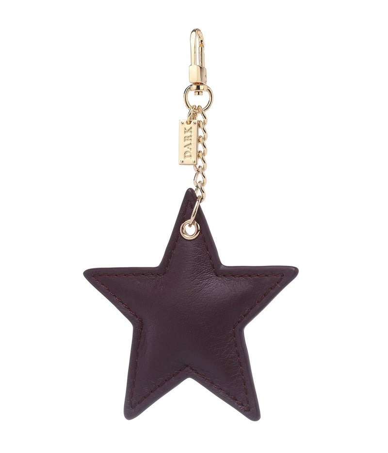 LEATHER STAR CHARM PLUM