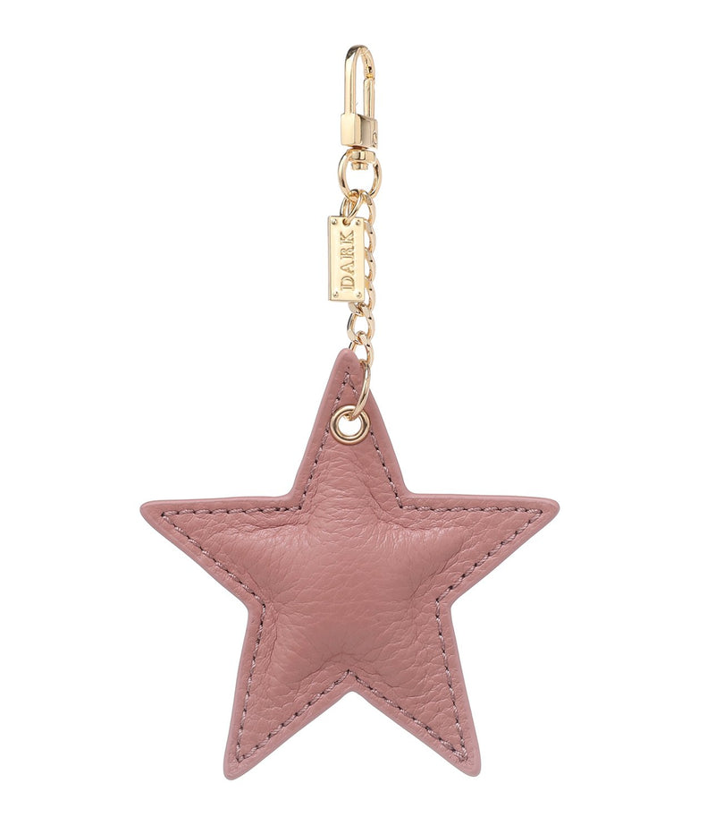 LEATHER STAR CHARM ROSE