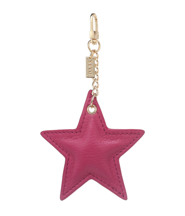 LEATHER STAR CHARM WILDBERRY