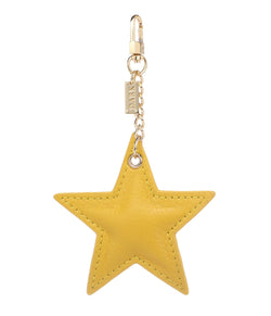 LEATHER STAR CHARM YELLOW