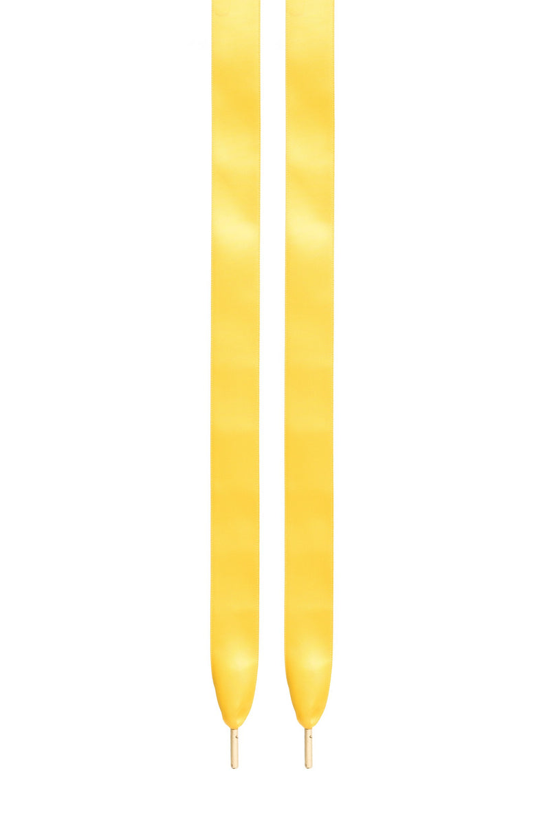 SILK SHOE LACES YELLOW