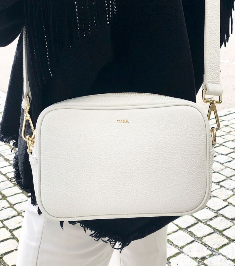 LEATHER BOX BAG WHITE