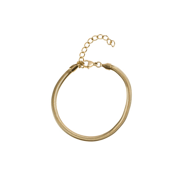 SNAKE CHAIN BRACELET THIN GOLD
