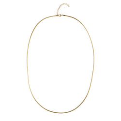 SNAKE CHAIN NECKLACE EXTRA THIN GOLD 65 CM
