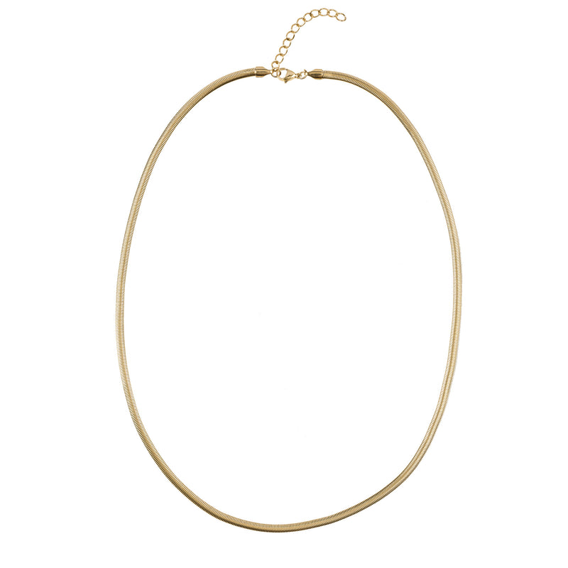 SNAKE CHAIN NECKLACE THIN GOLD 60 CM