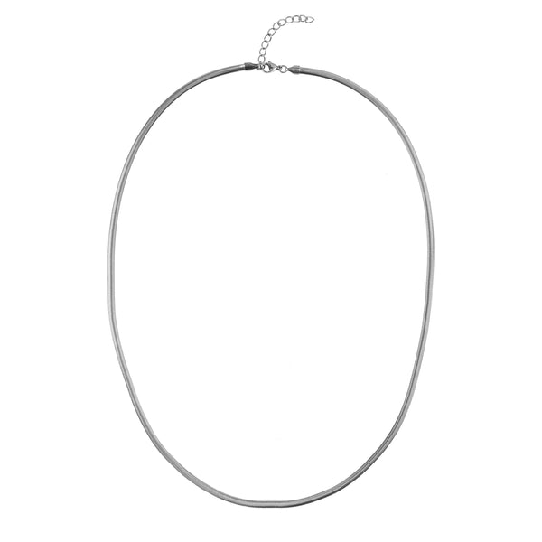 SNAKE CHAIN NECKLACE THIN SILVER 70 CM