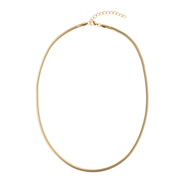 SNAKE CHAIN NECKLACE THIN GOLD 50 CM