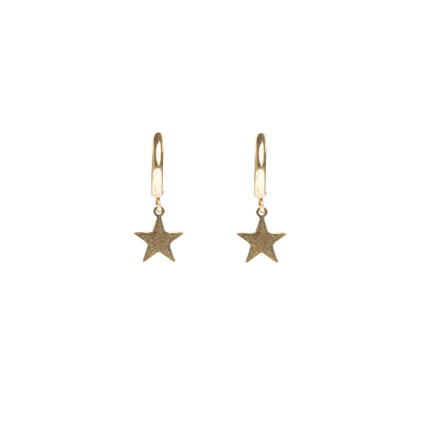 STAR HOOP GOLD