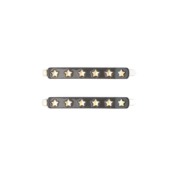 STAR STUD BOBBY PINS 2 PK CHOCOLATE BROWN