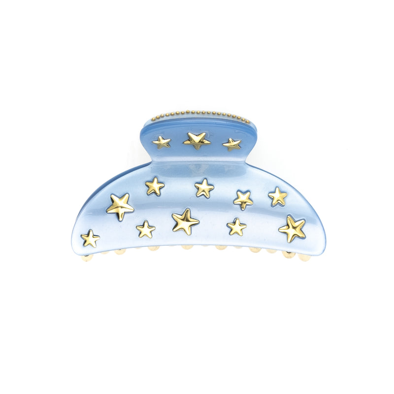 STAR STUD HAIR CLAW LARGE 501 BLUE