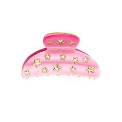 STAR STUD HAIR CLAW LARGE PALE PINK