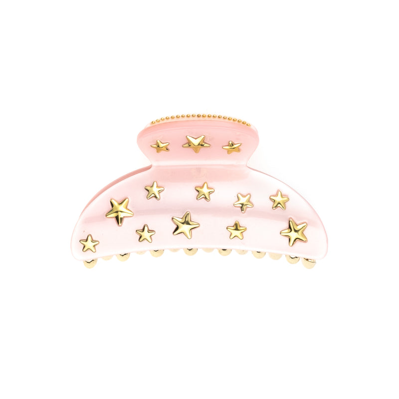 STAR STUD HAIR CLAW LARGE PALE ROSE