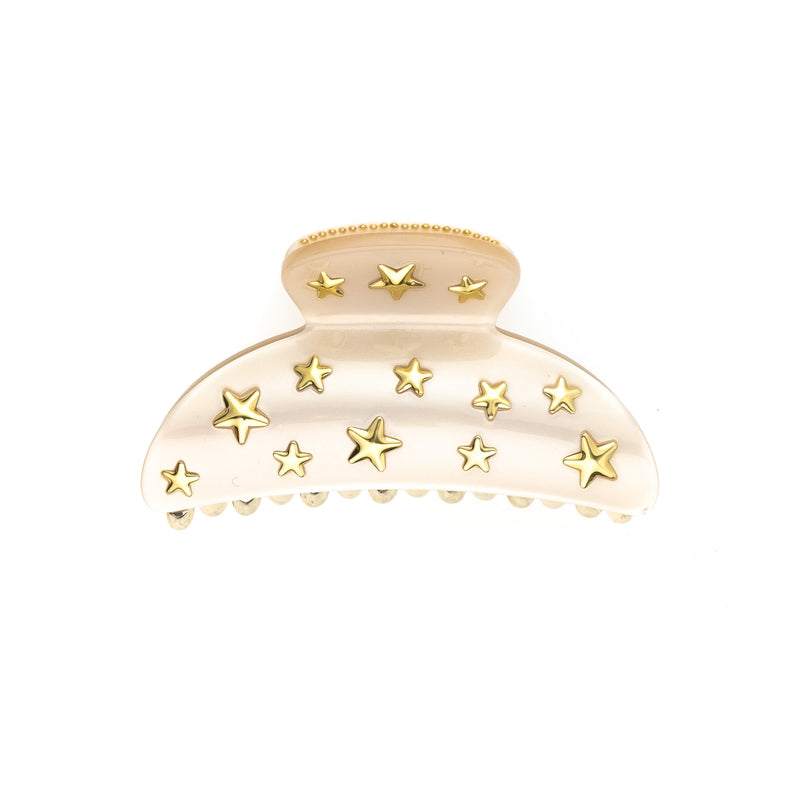 STAR STUD HAIR CLAW LARGE SAND