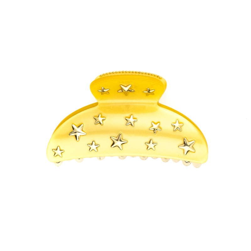 STAR STUD HAIR CLAW LARGE SUN YELLOW