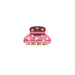 STAR STUD HAIR CLAW SMALL BERRY