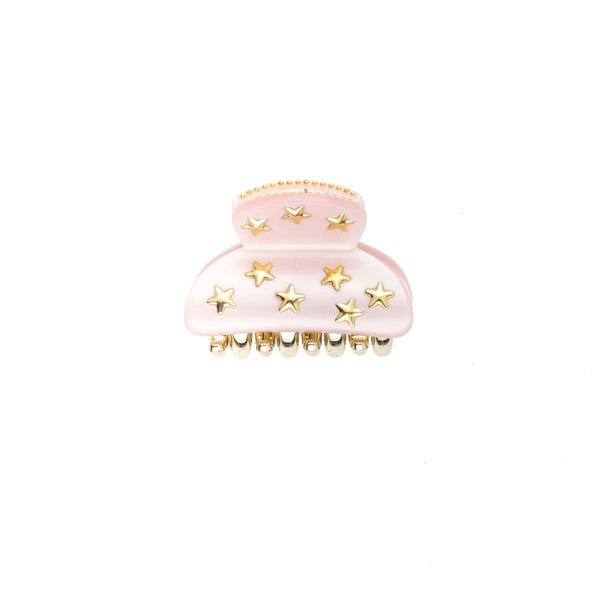 STAR STUD HAIR CLAW SMALL PALE ROSE