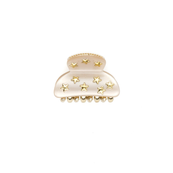 STAR STUD HAIR CLAW SMALL SAND