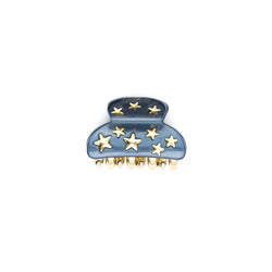 STAR STUD HAIR CLAW SMALL STONE BLUE
