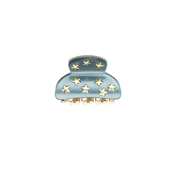 STAR STUD HAIR CLAW SMALL TEAL