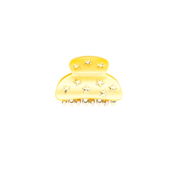 STAR STUD HAIR CLAW SMALL SUN YELLOW