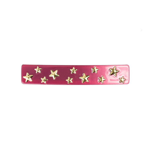 STAR STUD HAIR CLIP LARGE BERRY