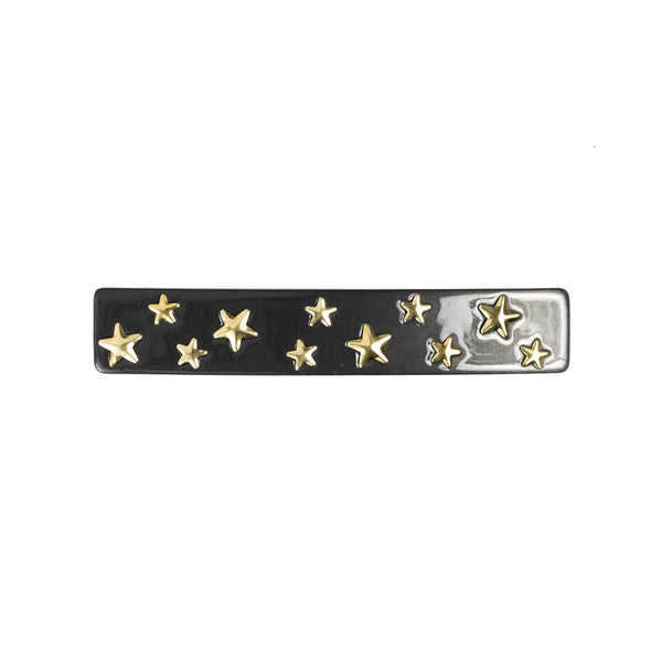 STAR STUD HAIR CLIP LARGE CHARCOAL