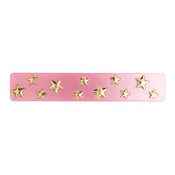 STAR STUD HAIR CLIP LARGE PALE PINK