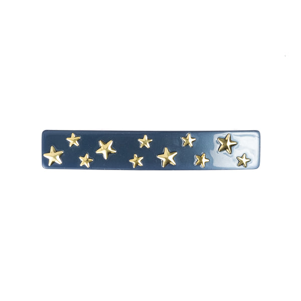 STAR STUD HAIR CLIP LARGE STONE BLUE