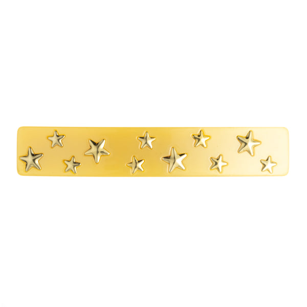 STAR STUD HAIR CLIP LARGE YELLOW