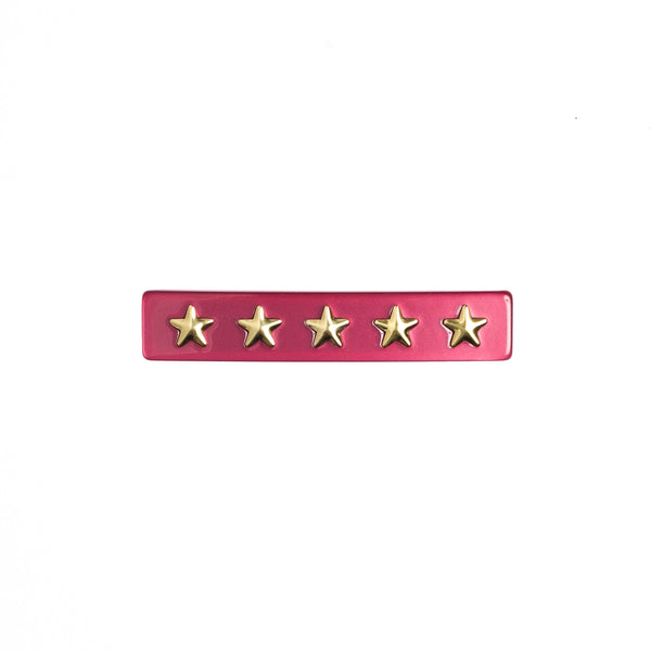 STAR STUD HAIR CLIP SMALL BERRY